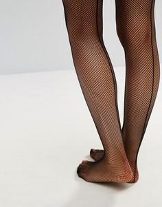 Чулки в сеточку со швом Ann Summers - Черный