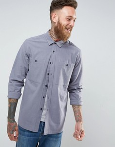 Голубая фактурная рубашка ASOS - Синий