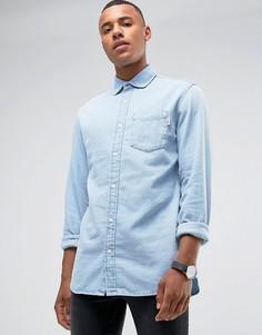 Голубая свободная джинсовая рубашка Jack & Jones Intelligence - Синий