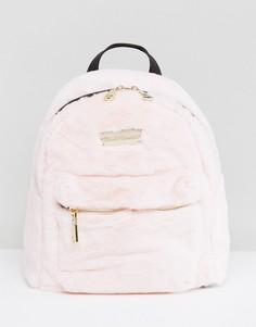 Розовый рюкзак с искусственным мехом Claudia Canova - Розовый