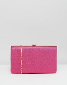 Сумка-клатч с жестким каркасом ярко-розового цвета Claudia Canova - Розовый