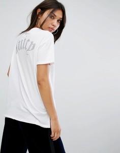 Футболка с логотипом на спине Juicy Couture - Белый