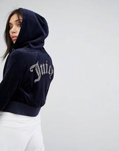 Худи на молнии Juicy Couture - Темно-синий