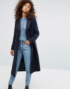 Двубортное пальто Noisy May - Темно-синий
