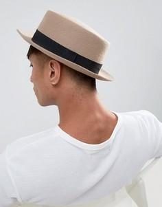 Белая шляпа с узкими полями ASOS - Бежевый