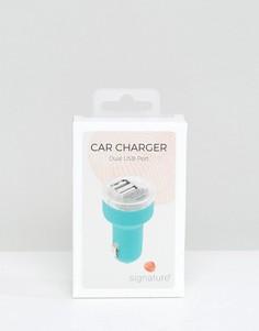 Автомобильное зарядное устройство для телефона Signature - Зеленый