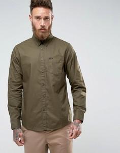 Однотонная рубашка классического кроя с воротником на пуговицах и карманом Lee - Зеленый