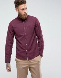 Рубашка узкого кроя в клетку с воротником на пуговицах и карманом Lee - Красный