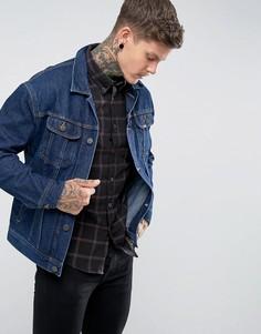 Темная джинсовая оверсайз-куртка Lee - Синий