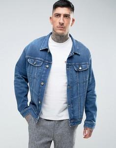 Джинсовая эластичная куртка оверсайз Lee Rider - Синий