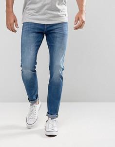 Синие джинсы скинни с эффектом кислотной стирки Lee Malone - Синий