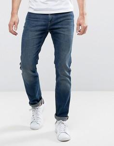 Темно-синие узкие джинсы Lee - Темно-синий
