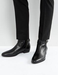 Кожаные ботинки с пряжками Walk London Ziggy - Черный