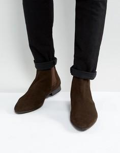 Замшевые ботинки челси Walk London Mark - Коричневый