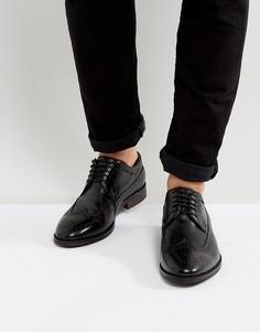 Кожаные броги Walk London Florence - Черный