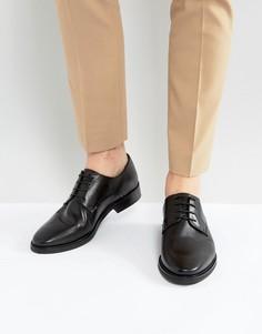 Кожаные туфли Walk London Heathcliff - Черный