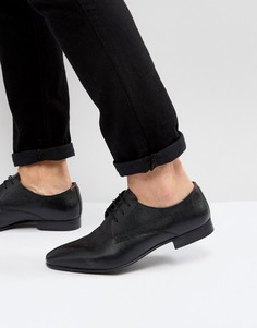 Кожаные туфли Walk London City Saffiano - Черный