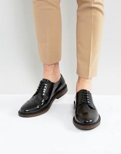 Блестящие кожаные туфли Walk London Darcy - Черный