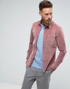 Розовая облегающая рубашка ASOS - Розовый
