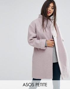 Фактурное пальто-накидка ASOS PETITE - Розовый