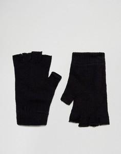 Перчатки без пальцев ASOS - Черный