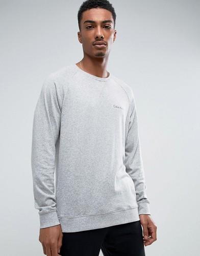 Серый трикотажный лонгслив Calvin Klein - Серый