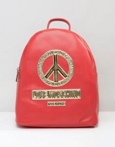 Рюкзак с символом мира Love Moschino - Красный