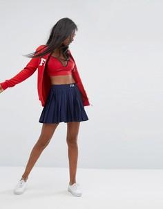 Плиссированная теннисная юбка Fila - Темно-синий
