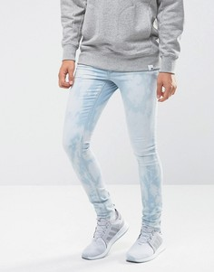 Выбеленные джинсы скинни ASOS - Синий
