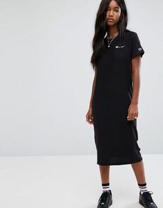 Платье-футболка миди Champion - Черный