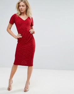 Платье миди с короткими рукавами Vesper - Мульти