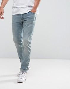 Голубые зауженные джинсы в винтажном стиле ASOS - Синий