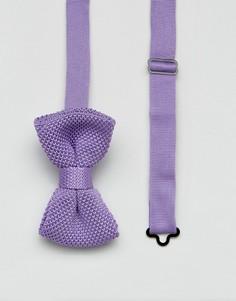 Вязаный галстук-бабочка 7X - Фиолетовый