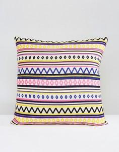 Чехол на подушку с вышивкой Ashiana - Мульти