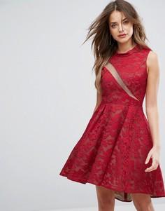 Платье с кружевной отделкой Forever Unique - Красный
