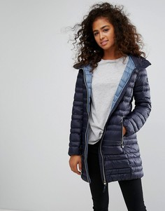 Дутая куртка-пуховик миди Esprit - Синий