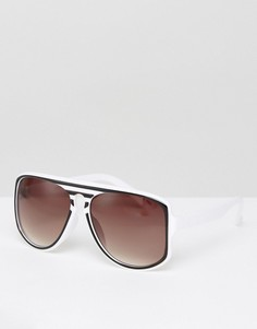 Солнцезащитные очки в полосатой оправе Jeepers Peepers - Черный