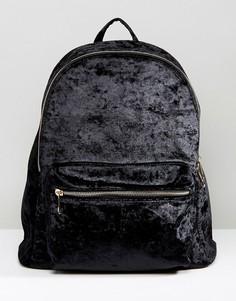 Рюкзак из мятого бархата Yoki - Кремовый
