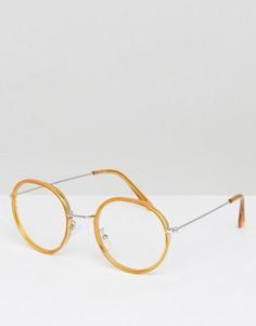 Круглые очки ASOS - Коричневый