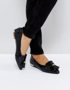 Черные лакированные балетки с кисточками Miss KG Nikki - Черный