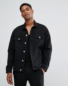 Черная джинсовая оверсайз-куртка Cheap Monday - Черный