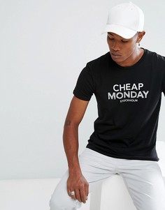 Футболка с логотипом Cheap Monday - Черный
