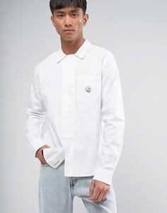 Рубашка с черепом-нашивкой Cheap Monday Decipher - Белый