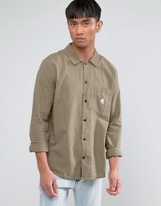Рубашка с черепом-нашивкой Cheap Monday Decipher - Зеленый