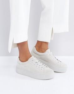 Замшевые кремовые кроссовки Vagabond Jessie - Кремовый