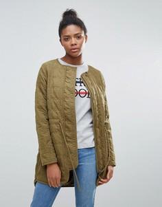 Стеганая куртка Vila - Зеленый