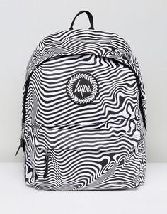 Черный рюкзак в полоску Hype - Черный