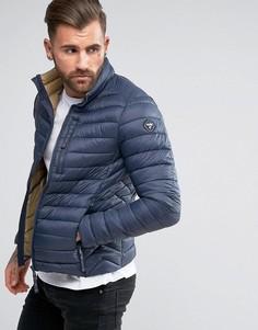Короткая дутая куртка Puffa - Темно-синий