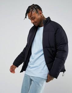Темно-синяя дутая куртка ASOS - Темно-синий