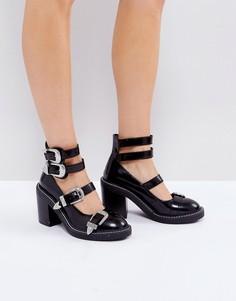 Туфли на каблуке с пряжками ASOS OH GOSH - Черный